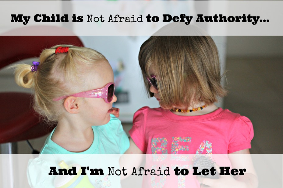 My Child is Not Afraid to Defy Authority ~ Peaceful Parents, Confident Kids