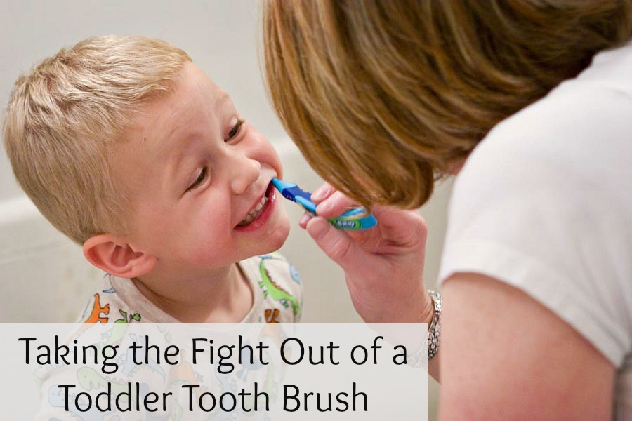 Taking the Fight Out of a Toddler Tooth Brush - Peaceful Parents, Confident Kids